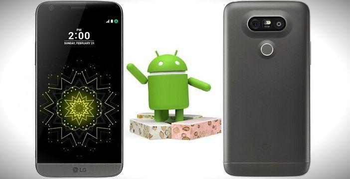 LG G5 es el primer teléfono inteligente (no Google) en recibir Android 7