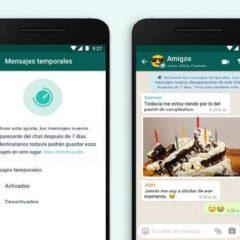 WhatsApp: ahora es posible enviar mensajes temporales